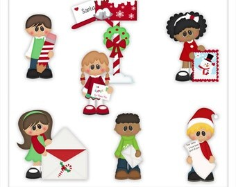 Letters to Santa 1 Clipart (Digital Zip Download)