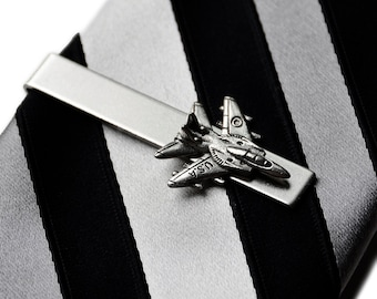 Jet Tie Clip - Tie Bar - Tie Clasp - Business Gift - Handmade - Gift Box Included