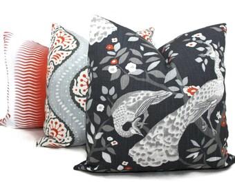 west elm gray ikat decorative pillow cover lumbar by popocolor. Black Bedroom Furniture Sets. Home Design Ideas