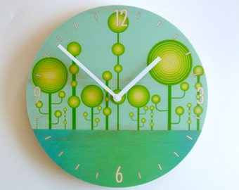 """Objectify """"Techo-Garden"""" Wall Clock with Numbers and Markers - Medium Size"""