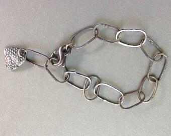 Sterling Silver Link Chain Bracelet - Handmade