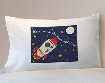 Love You To the Moon and Back Personalized Pillowcase -gfyD99942