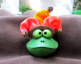 """Frog Jester from Polymer Clay 2"""""""