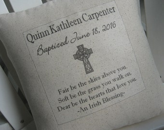 Heirloom gifts etsy first communion pillow christening baptism custom heirloom gifts spiritual gifts childs negle Images