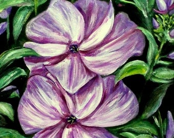 """WEEKLY SPECIAL-- Flowers Original, Acrylic Painting on 14"""" x 18"""" stretched canvas.  Pink flower painting, flower art on canvas, unframed art"""