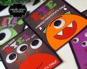 Monster Eyes- Valentine Printable For Kids  -Googley Eye wiggle Friends Craft Digital Card- Instant Download