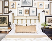 Gorgeous brass interior design bed. Full-size. fig house vintage. As seen on Domino Magazine