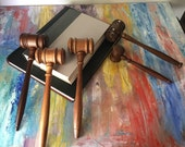 Gavel. Judge. Attorney office. wooden