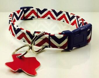 Texas Football Dog Collar - Adjustable