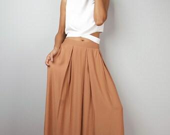 Long Skirt - Floor Length Soft Cinnamon Maxi Skirt : Feel Good Collection No.3