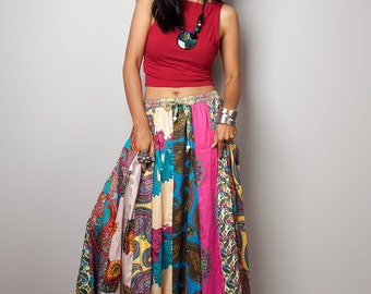 Maxi skirt / Boho Skirt / Patchwork Skirt : Boho Patchwork Collection No.2