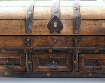 Fine Art Photography Print, Still Life, Wood Treasure Chest With Metal Embellishments, Rustic Home Decor, Wall Art, Gifts, Photo Prints