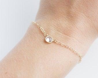 Cubic Zirconia Bracelet (Gold)