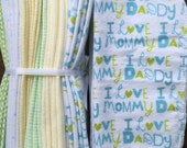 Cloth Baby Wipes Starter Kit. 3 dozen wipes SALE 20% off.  Eco friendly reusablecloth diapering wipes. I LOVE Mommy/Daddy
