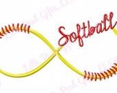 Softball Swirl - Machine Embroidery Design - 9 Sizes