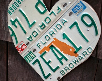 Florida License Plate Heart