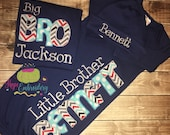 Big Sister or Big Brother Shirt - Hat and Gown Coming Home Outfit