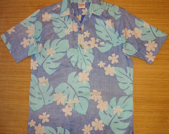 Vintage 60s Barefoot In Paradise Hawaiian Shirt - M - The Hana Shirt Co