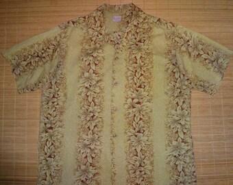 Mens Vintage 60s Lei O Hawaiian Aloha Shirt - XL -  The Hana Shirt Co