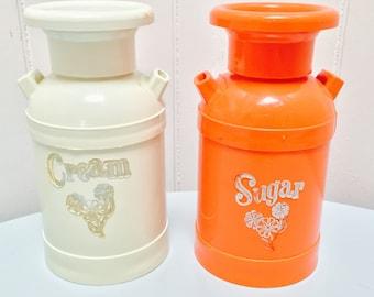 Vintage 1960s Sugar & Creamer Milk Jug Set