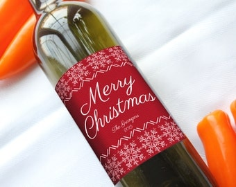 Ugly Christmas Sweater - Custom Wine Bottle Labels