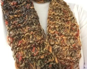 Handknit Möbius Infinity Cowl Scarf for sale