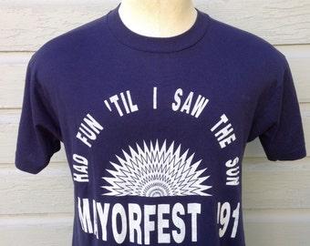 1991 Mayorfest t-shirt, fits like a medium