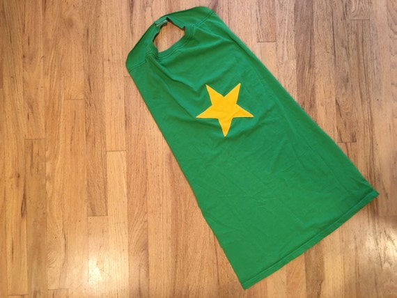 Super Hero Cape - Green with Yellow Star