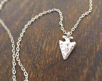 Arrowhead Necklace - Silver Jewellery - Native American Jewelry - Arrow - Chain - Southwestern