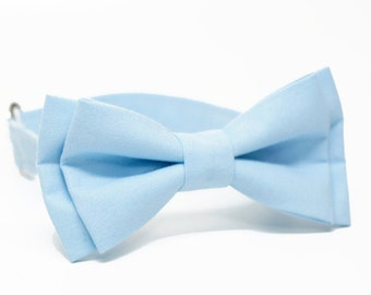 Light Blue, Sky Blue Bow Tie for all ages - pre tied bowtie, wedding, photo prop, best man, ring bearer, church - Ocean Blue