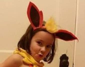 Flareon pokemon ears headband - Flareon headband - Pokemon ears