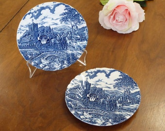 """Two Myott Royal Mail Dessert Plates 6.75"""" Made in England"""