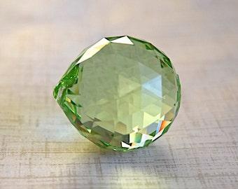 Peridot Swarovski Crystal -Strass- Faceted Chandelier Drop Ball -30mm- 1 Piece