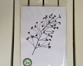 Impression Obsession, io, branch/leaves, K16155, silhouette stamp, for cardmaking, scrapbooking, art journaling, mixed media, paper crafting