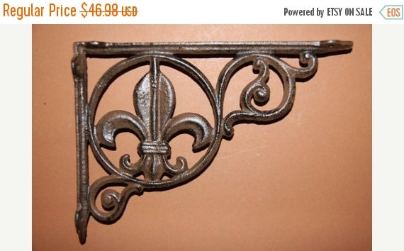ON SALE 4 Fleur De Lis Shelf Brackets Free By RUNNINGTIDE