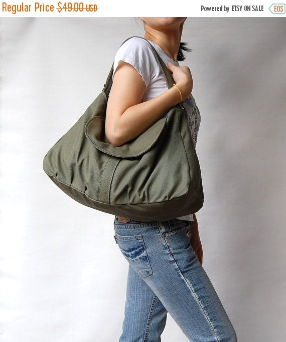 NEW YEAR SALE 30% - Fortuner in Army Green (Water Resistant) Purse / Laptop / Shoulder bag / Messenger Bag / Handbag / Wallet / Diaper Bag /