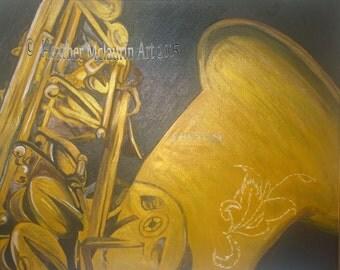 Acrylic Saxophone