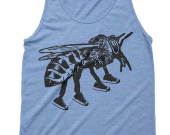 Bee Runner Tri-Blend Tank - American Apparel Tanktop - XS S M L Xl (Color Options)