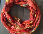 Orange Fall scarf