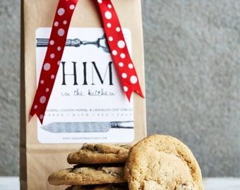 Place your Holiday orders now!  MEGA Cardamom, Cayenne Pepper, & Chocolate Chip Cookies  topped with Sea Salt