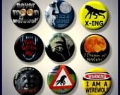"Werewolves Werewolf ancient folklore myth legend transmutation 9 Pinback 1"" Buttons Badges Pins"