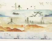 Nature Impression 01 - Japanese Washi Masking Tape - 7.6 Yard - 5 Designs for choice