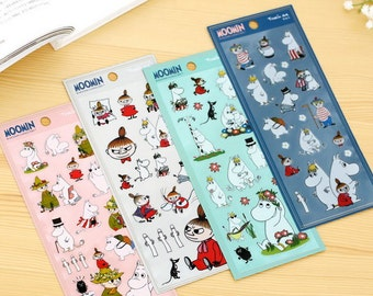 Moomin - Translucent Die Cut Deco Sticker - 1 Sheet - 4 Designs for choice