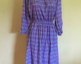 1970's Paisley Dress, size XS/S