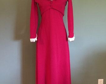 Two-Piece 60's Formal Dress, sz XS/S