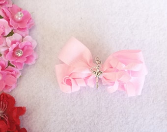 9 Light Pink Ballerina Hair Bow  Party Favors
