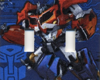 Transformer Optimus Prime Double Light Switch Plate