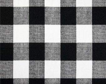 Black Buffalo Check Curtains. Pair of 2 Plaid Drapery Panels. Gingham. Bedroom Window Treatments.