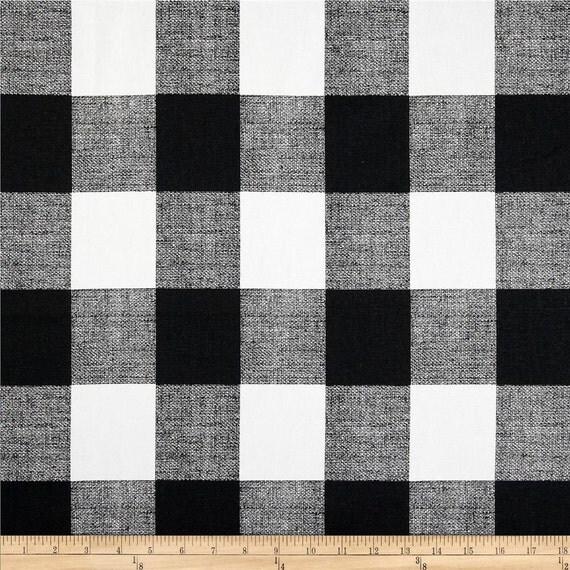 Items similar to Black Buffalo Check Curtains. Pair of 2 Plaid Drapery ...