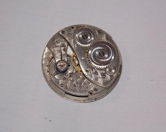Antique 25mm Etched Pocket Watch Movement